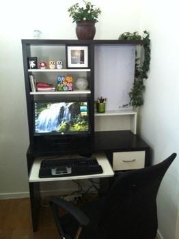 Kontor hemma, dator