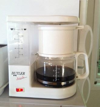 Vit kaffebryggare Butler
