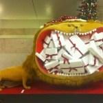 NK, julskyltning och lejon