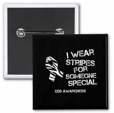 EDS pin, I wear stripes for someone special. EDS awareness, Ehlers-Danlos syndrom