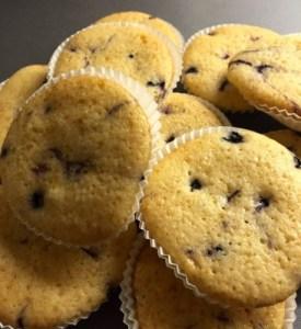 Muffins med vanilj och blåbär. Kalas och jobb.