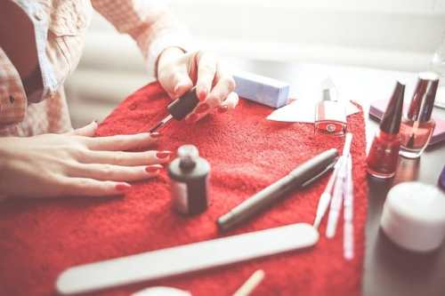 Nagellack, måla naglarna