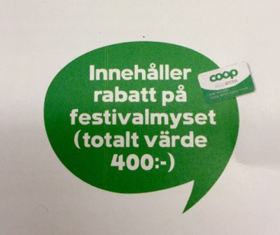Coop rabatt Melodifestivalen