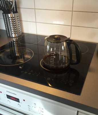 Kaffepanna på spisplatta. Det blev fel!