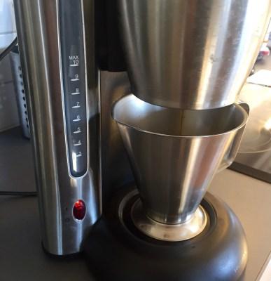Modifierad kaffebryggare