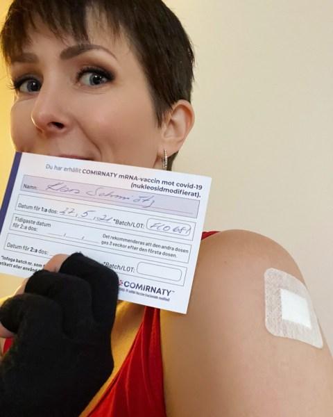 Klara Schmidtz fått vaccination mor covid-19