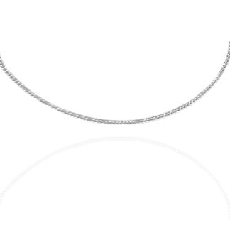 1mm curb chain silver