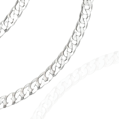 4mm sterling silver curb