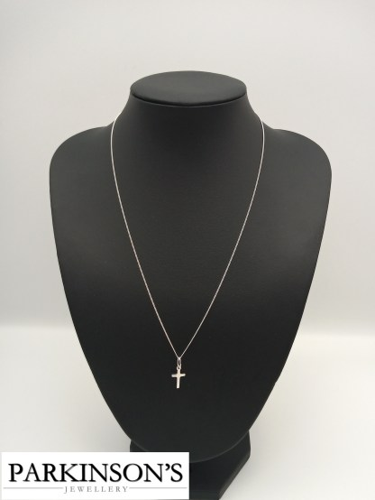 925 silver cross pendant on stand