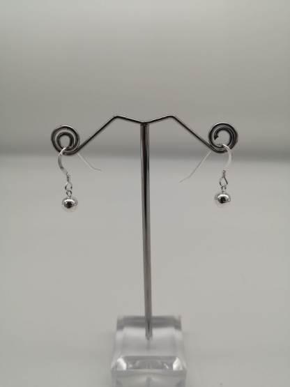 925 silver ball dropper earrings