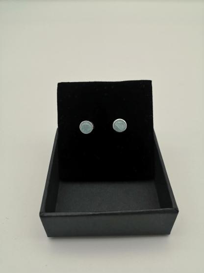 aquamarine studs in box