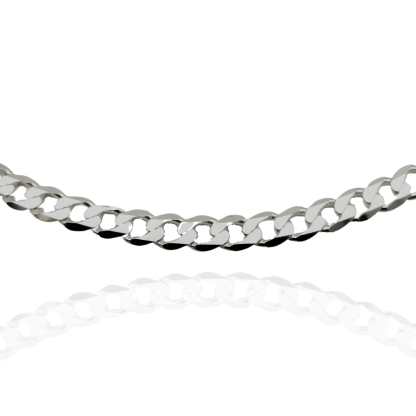 6mm sterling silver curb