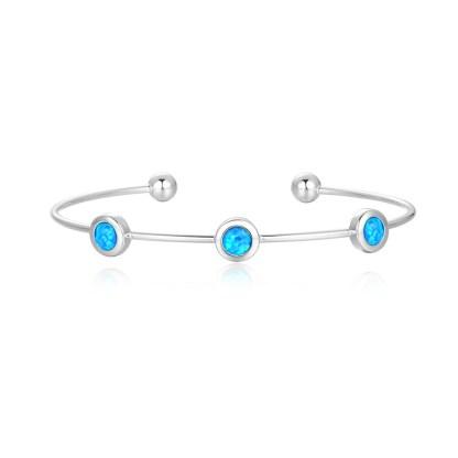 Created Opal 3 stone bangle