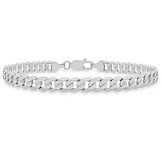 925 silver curb bracelet