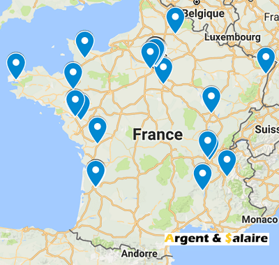 Carte de France du CrowdFuning Solidaire