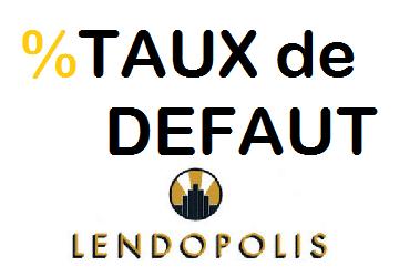 Taux de defaut Lendopolis - statistiques