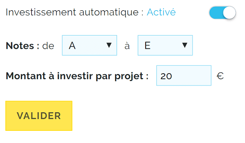 Robot d'investissement BOLDEN
