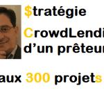 Stratégie Crowdlending d'un prêteur aux 300 projets