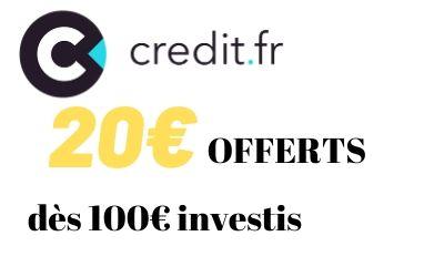 20€ offerts via l'offre parrain CREDIT.FR