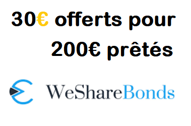 Offre parrainage Wesharebonds - Code Bonus 30€