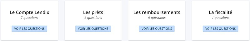 FAQ Prêteurs LENDIX