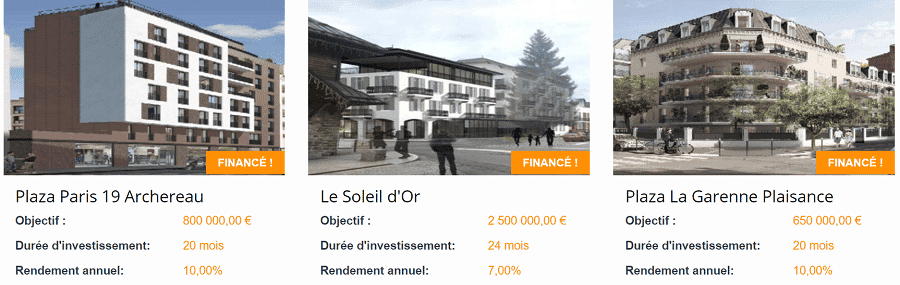 Fundimmo Projets Crowdfunding immobilier