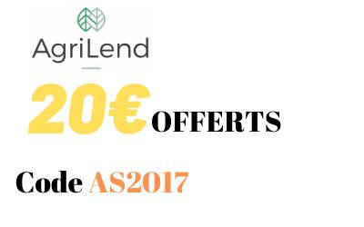 Offre parrainage Agrilend - Code Bonus 20€