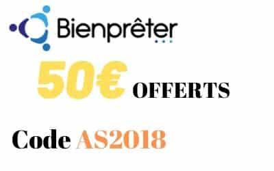 40€ offerts via l'offre parrainage exclusive Bienprêter