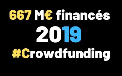 670 M€ financés en 2019 #Crowdfunding