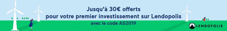 30 € offerts pour 300 € prêtés avec le code AS2019