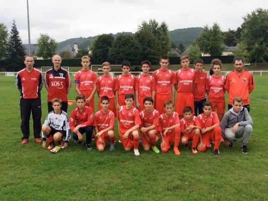 L'équipe U15 coachée par Antoine Bonnel réalise un bon début de saison.