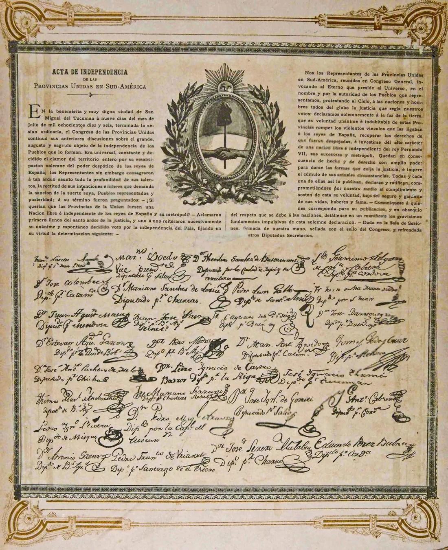 Acta independencia Argentina