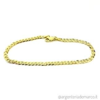 Bracciale Argento Grumetta Oro