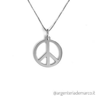 Collana con Ciondolo Pace in Argento