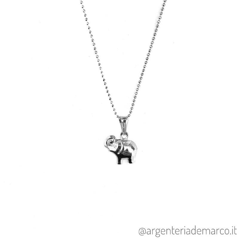 Collana Elefante Argento 925