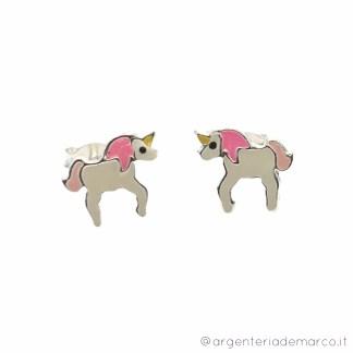 Orecchini Bambina Unicorno Bianco