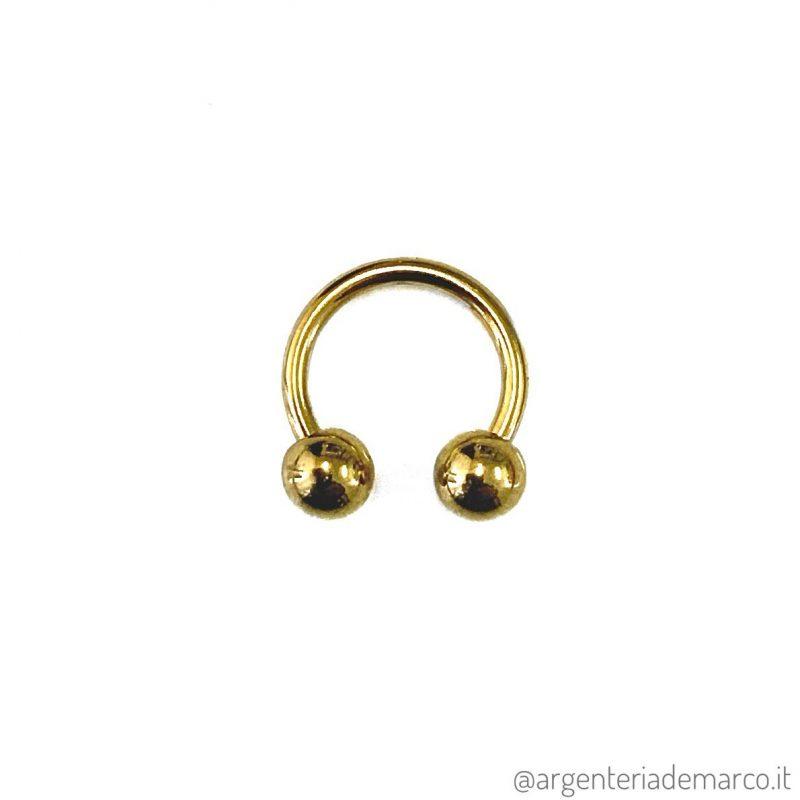 Piercing Cerchietto Oro con Palline