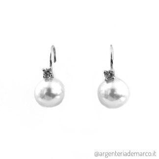 Orecchini Perle in Argento ONP014