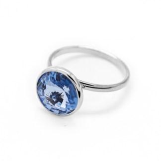Anello in Argento Cristallo Azzurro A2522-07A
