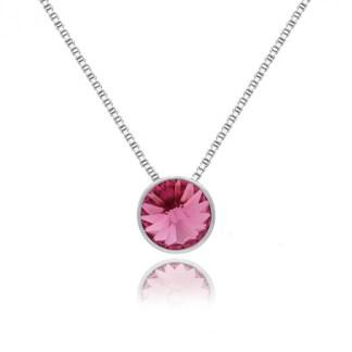 Collana Punto Luce Rosa A3039-04G