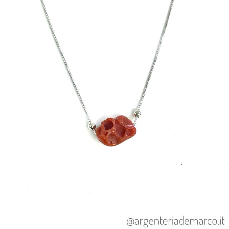 Collana Corallo Rosso in Argento