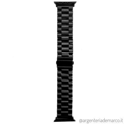 Cinturino Apple Watch Acciaio Nero