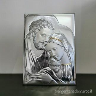 Icona Sacra in Argento Sacra Famiglia 32x47cm AE0280/5