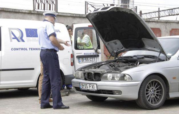 Mașinile cu defecte identificate de RAR și Poliția Rutieră