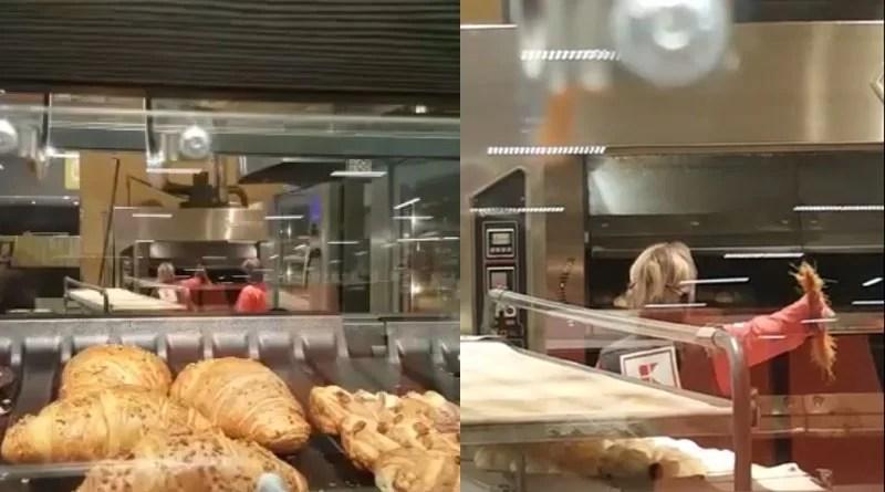 Angajată Kaufland Pitești, folosește mătura la produsele de patiserie!