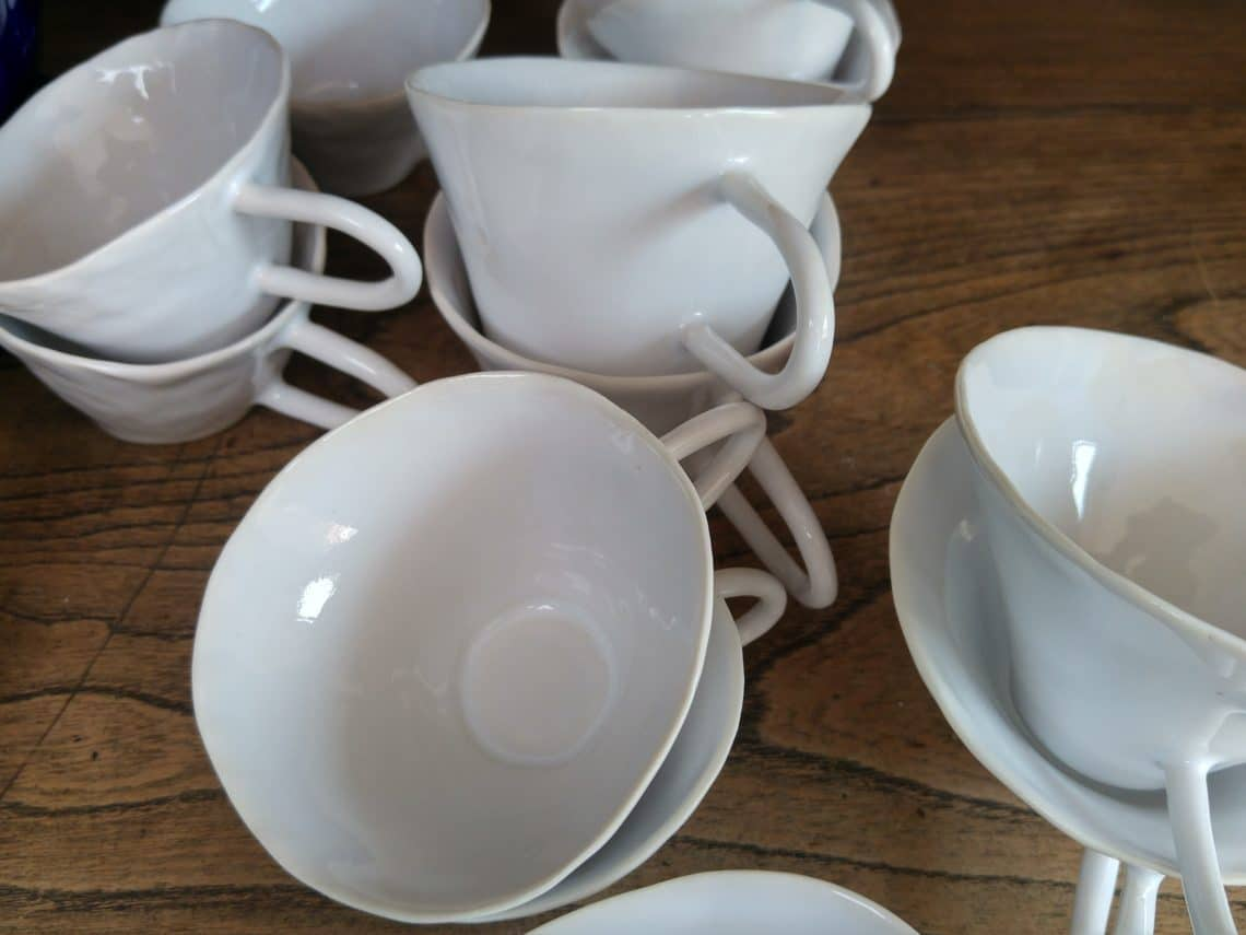 Tasses en porcelaine