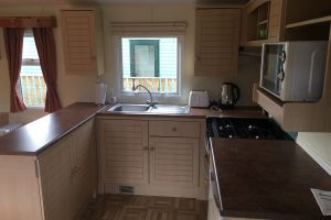 Argill Caravan Park Cumbria kitchen