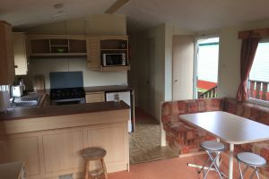 Argill Caravan Park Cumbria kitchen and dining area