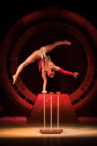 Hand Balance Act - Beauty Acrobat Doing Handstands - Argolla Show