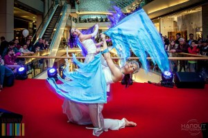 Dancer with Flags - Shopping Mall - Acrobatic Show